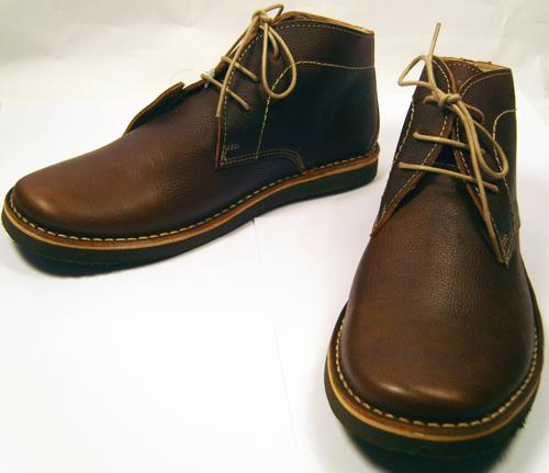 brown leather desert boots