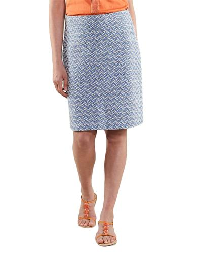 NOMADS Retro 1970s Handloom Tailored Pencil Skirt
