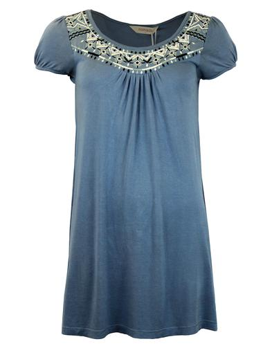 NOMADS RETRO MOD TUNIC TOP BLUE