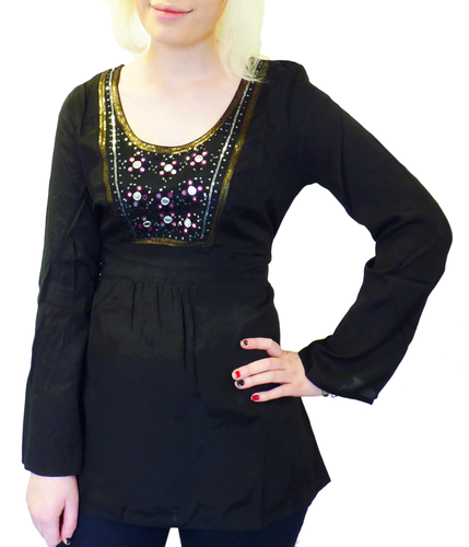 Manhattan NOMADS Retro Sixties Sequin Party Top