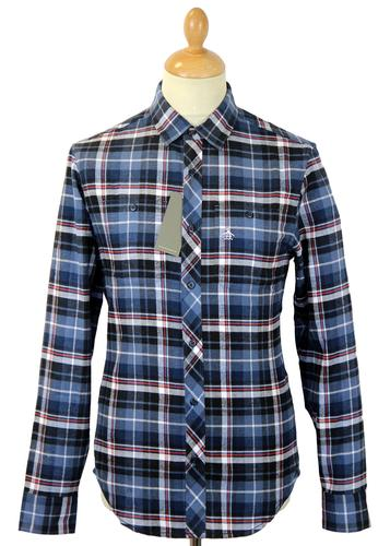 ORIGINAL PENGUIN RETRO VINTAGE FLANNEL CHECK SHIRT