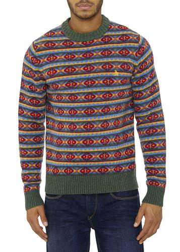 ORIGINAL PENGUIN RETRO 70S CHRISTMAS FAIRISLE