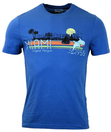 Welcome To Miami ORIGINAL PENGUIN Retro T-Shirt