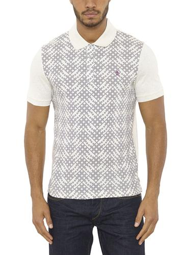 ORIGINAL PENGUIN RETRO MOD PRINT POLO SHIRT