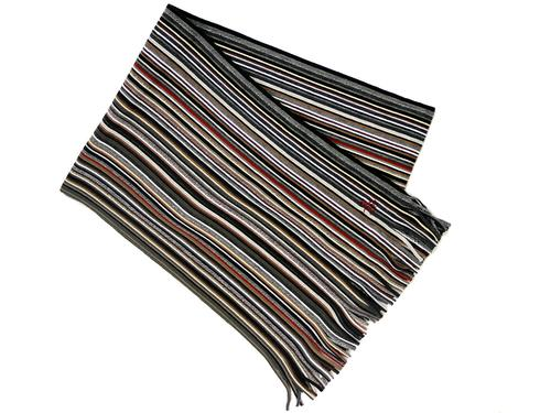 ORIGINAL PENGUIN Retro Mod Stripe Knit Scarf (C)