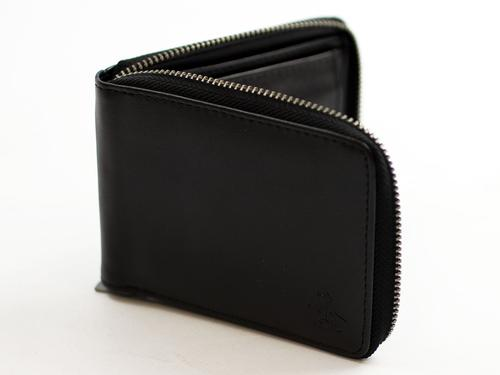 ORIGINAL PENGUIN Men's Retro Mod Zip Fasten Wallet