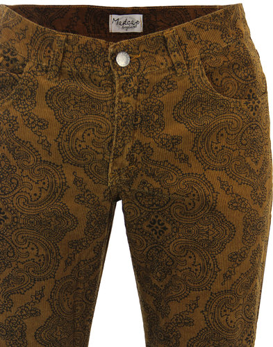 madcap england paisley rave retro cord bellbottoms