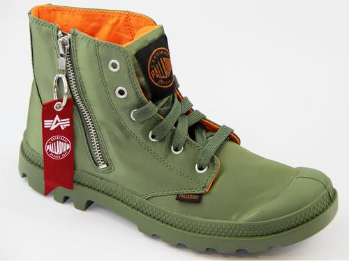 Pampa Zip MA-1 Palladium Alpha Industries Boots S