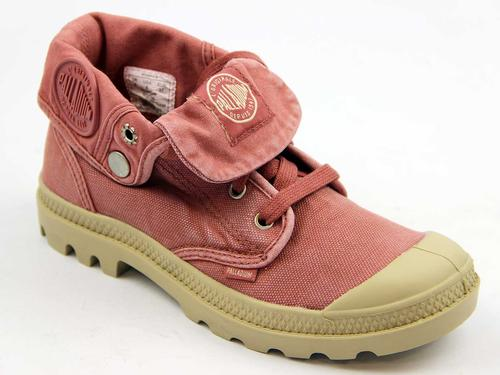 PALLADIUM BOOTS WOMENS BAGGY LOW BOOTS PINK