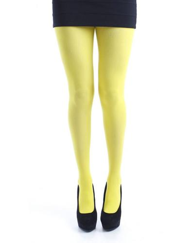 + PAMELA MANN 50 Denier Opaque Tights in Yellow