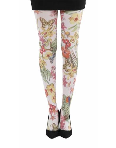 + Secret Garden PAMELA MANN Floral Printed Tights