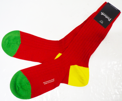 + PANTHERELLA Ribbed Retro Colour Block Socks (R)