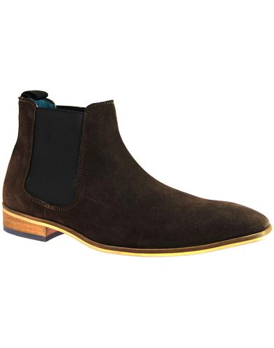 Smokey PAOLO VANDINI Mod Suede Chelsea Boots BROWN