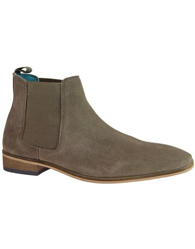 Smokey PAOLO VANDINI Mod Suede Chelsea Boots TAUPE