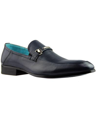 Trevor PAOLO VANDINI 60s Mod Slip On Loafers NAVY