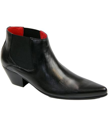 Veer3 Leather TALL PAOLO VANDINI Mod Chelsea Boots