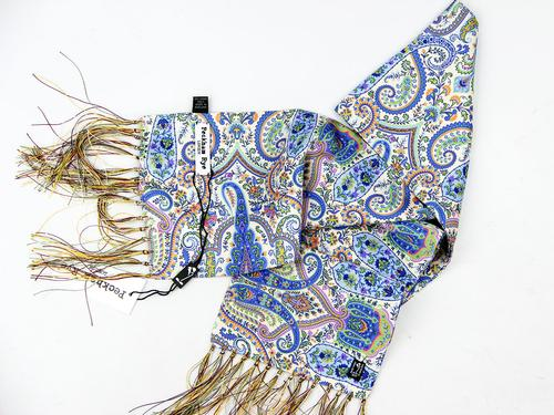 PECKHAM RYE Floral Paisley Mod Scarf (Cream/Green)