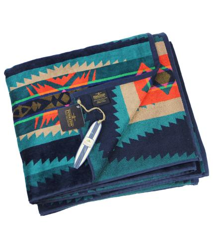PENDLETON HERITAGE BEACH TOWEL FOR 2 BLUE