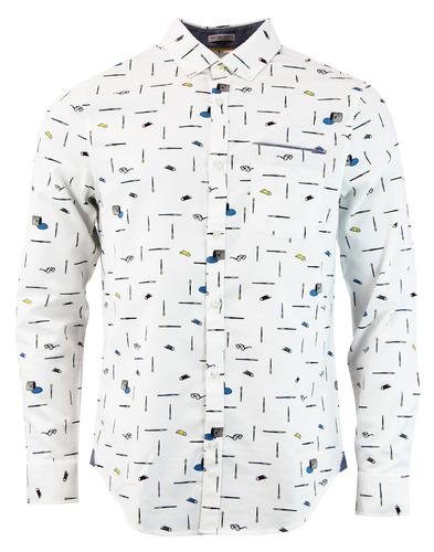 Paintbrush Convo ORIGINAL PENGUIN Retro Mod Shirt