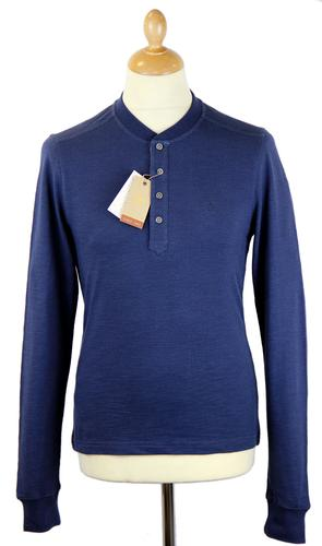 ORIGINAL PENGUIN Mandarin Collar Retro Mod Top DB