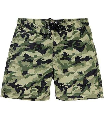 PEPE JEANS MENS RETRO INDIE CAMO SWIM SHORTS