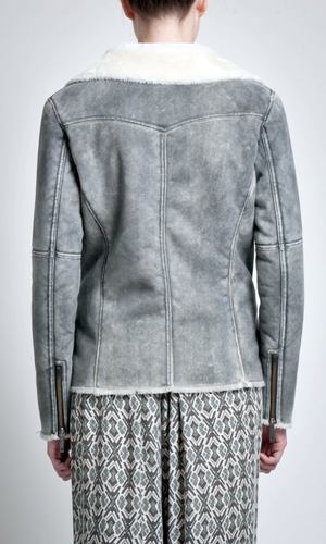 Casey PEPE JEANS Faux Leather Retro Flight Jacket