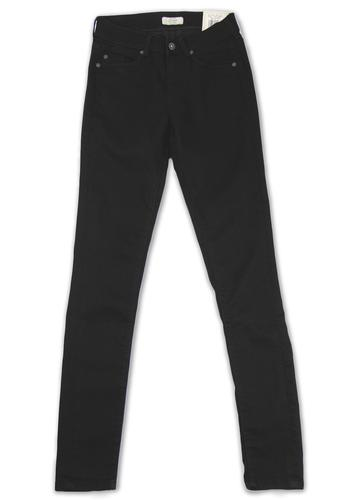 PEPE JEANS WOMENS NEW ELITE SLIM FIT BLACK JEANS