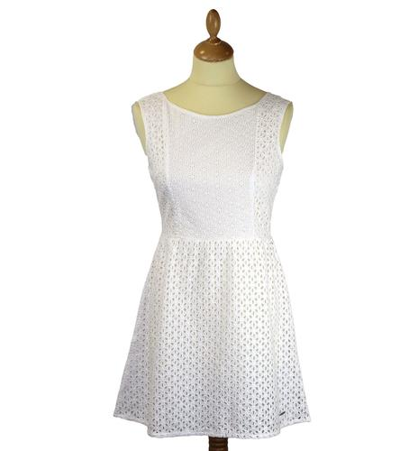 Pepe Jeans Florra Retro 60s Boho Style Flower Cut Out Dress