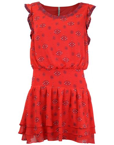 Gineth PEPE JEANS Retro 60's Floral Print Dress
