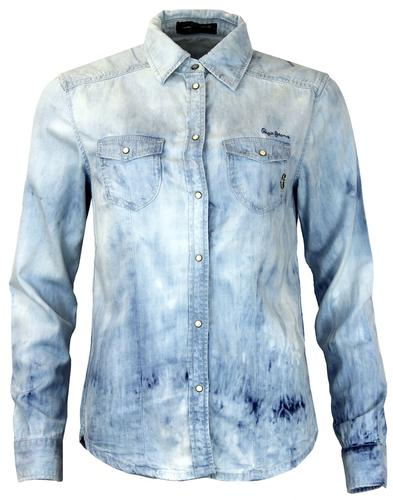 PEPE JEANS WOMENS RETRO 70S DENIM SHIRT