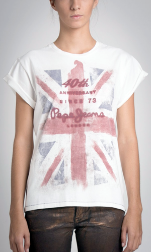 PEPE JEANS 40TH ANNIVERSARY WOMENS T-SHIRT