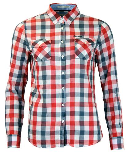 PEPE JEANS WOMENS WESTERN CHECK MOD SHIRT