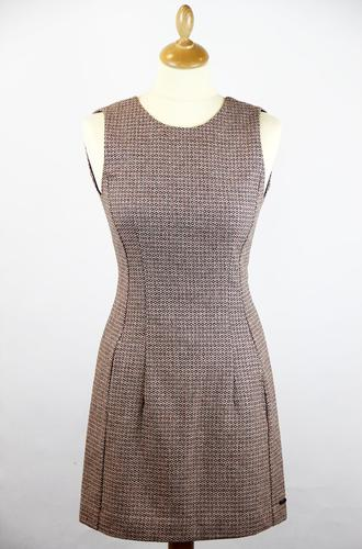 Suzan PEPE JEANS Retro Mod Op Art Pinafore Dress