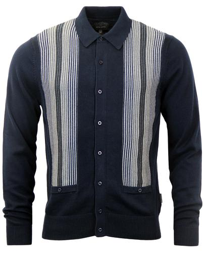 Victor PETER WERTH Retro Stripe Polo Cardigan