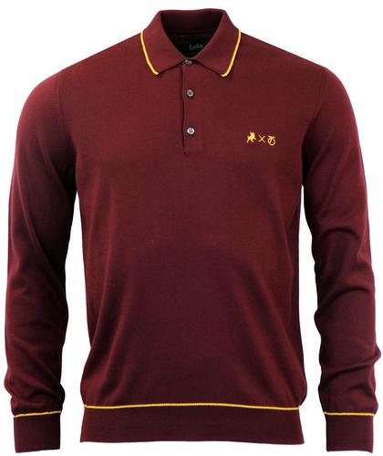 LOIS x PETER WERTH Retro Contrast Tipped Knit Polo