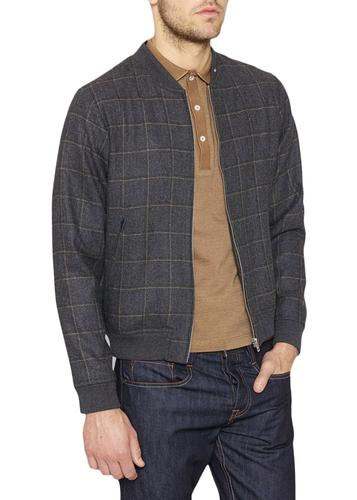 PETER WERTH RETRO MOD CHECK BOMBER JACKET