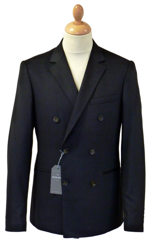 PETER WERTH Norman Retro 60s Double Breasted Mod Blazer