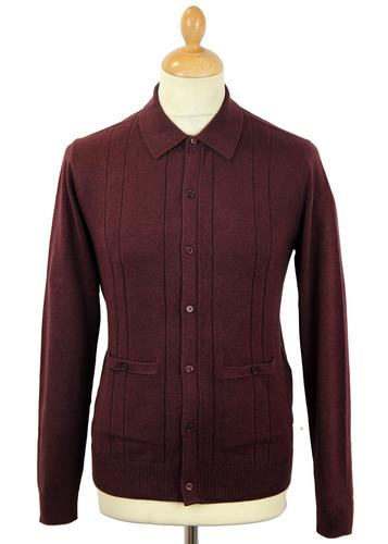 PETER WERTH MASSILIA MOD DROP STITCH POLO CARDIGAN