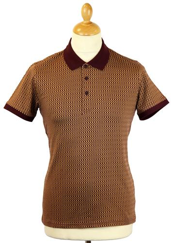 Viva PETER WERTH Retro Mod Geometric Print Polo