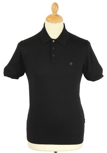 Brooksy PETER WERTH Retro Mod Knitted Polo Shirt B