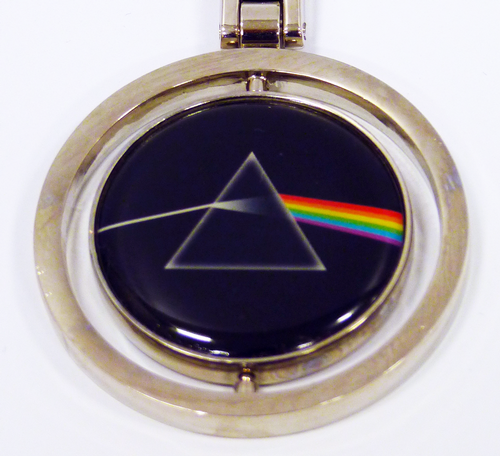 PINK FLOYD DARK SIDE OF THE MOON SPIN KEYRING