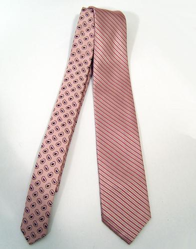 'Reversible Silk Tie' - By GIBSON LONDON (Pink)