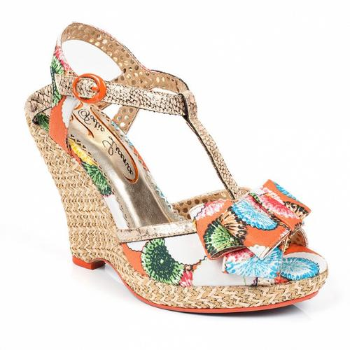 Behave Yourself POETIC LICENCE Retro Wedge Sandals