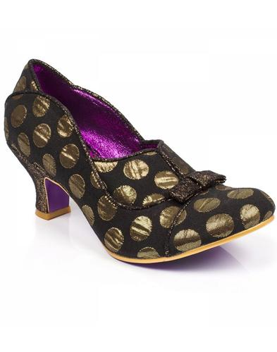 Hold Up POETIC LICENCE Retro Vintage Heels - Gold