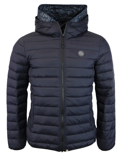 Barker PRETTY GREEN Retro Quilted Hooded Jacket