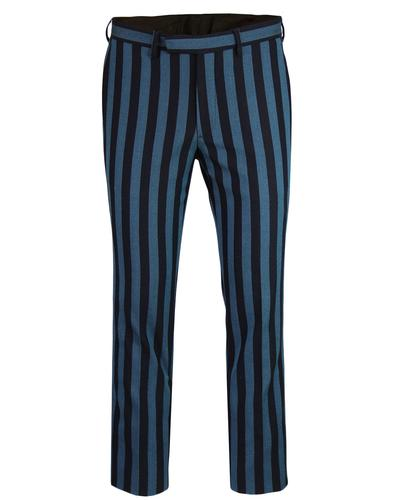 PRETTY GREEN Black Label Boating Stripe Trousers