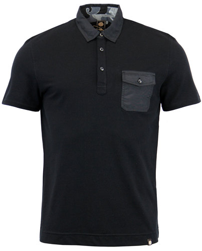 Decima PRETTY GREEN Retro Military Mod Pocket Polo