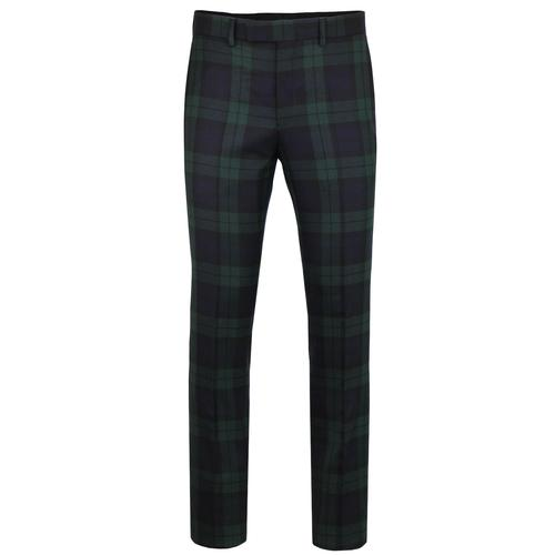PRETTY GREEN Black Label Mod Check Suit Trousers