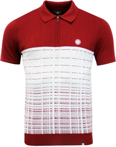 Croston PRETTY GREEN Retro Mod Jacquard Knit Polo