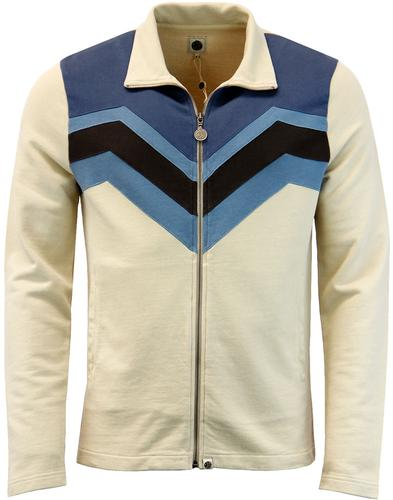 Emlyn PRETTY GREEN Retro Chevron Track Jacket (S)